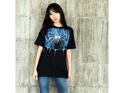 Kaos Black Spiderman XL
